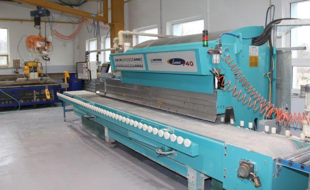 Automatický NC stroj pro tvarování a leštění hran - Montresor Luna 740