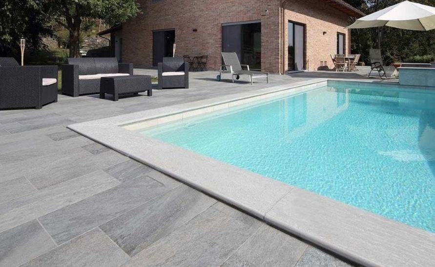 Exteriérová dlažba a tvarovky na míru k venkovnímu bazénu
