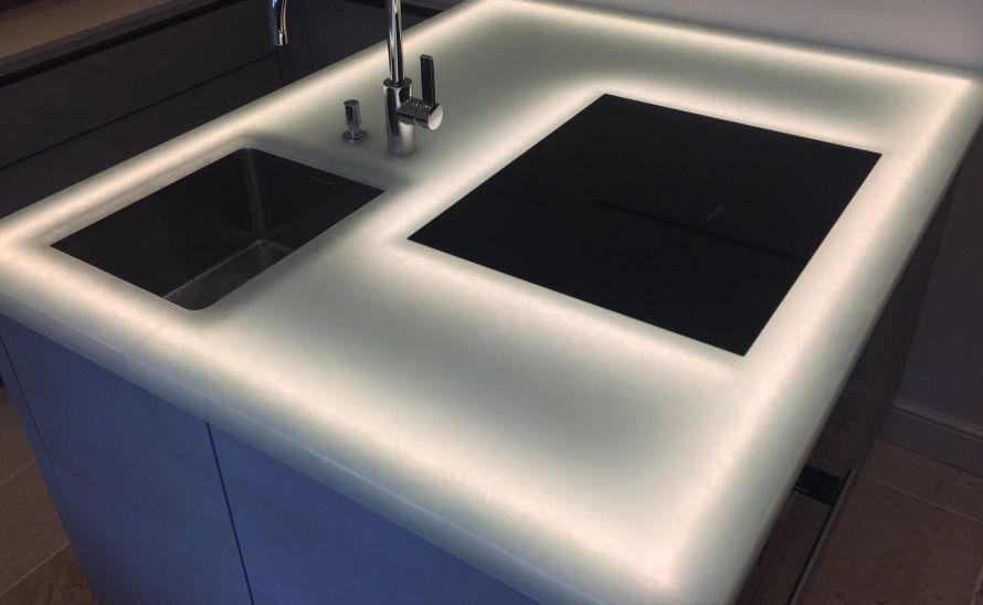 Kuchyňský pult - Skleněné desky Magna - recyklované sklo