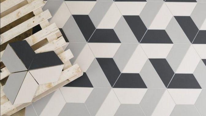 Mozaika Stella ze tří designu keramické dlažby