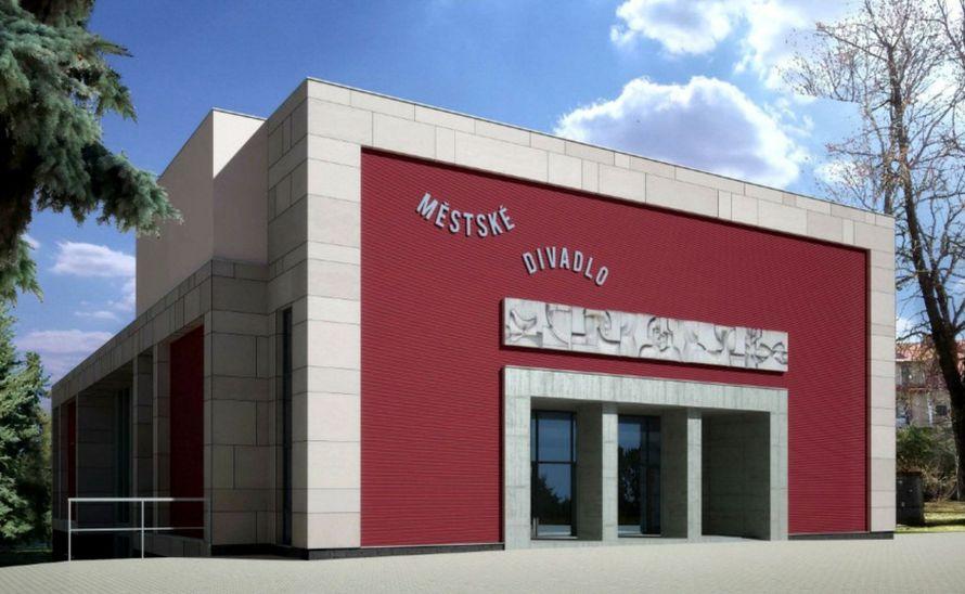 Provětrávaná fasáda na městském divadle v síle střepu 6 mm