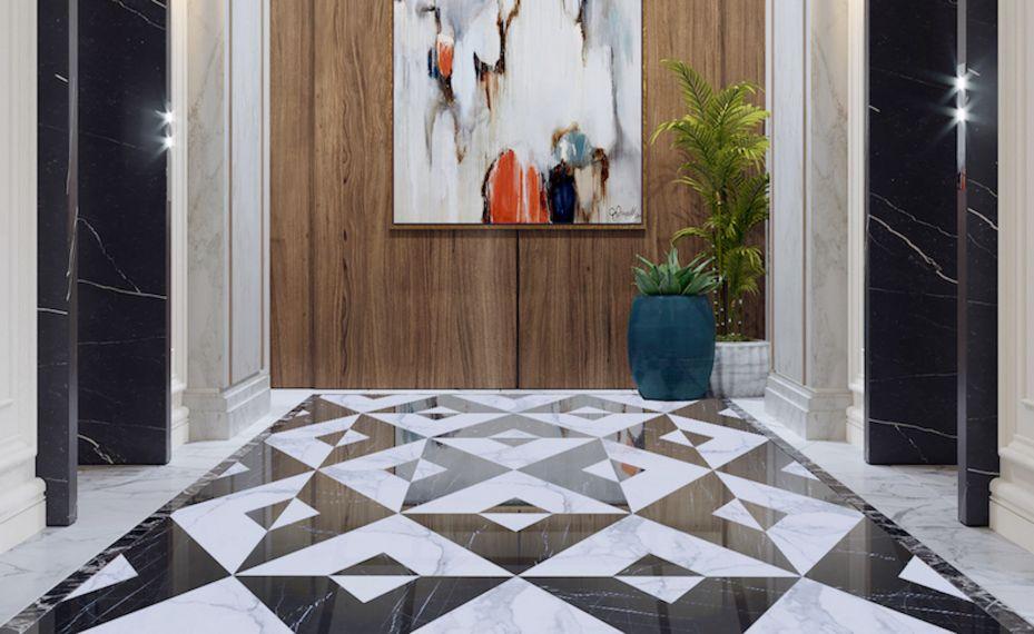 Velkoplošný dekor Diagonale